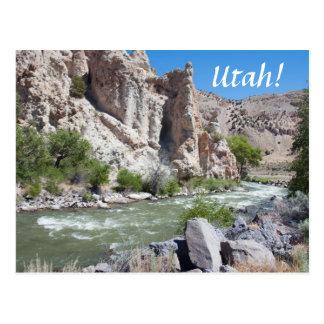Sevier River, Utah Postcard