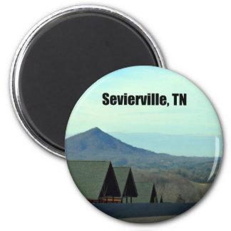 Sevierville, Tennessee Imán Redondo 5 Cm