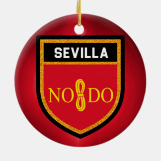 Sevilla Flag Ceramic Ornament