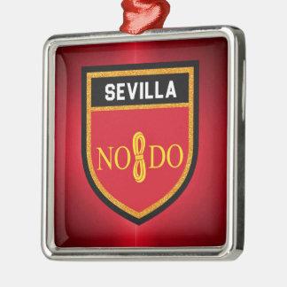 Sevilla Flag Metal Ornament