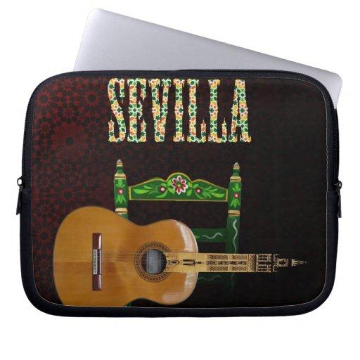 Sevilla Guitarra española con Giralda de Sevilla Fundas Ordendadores