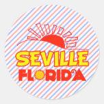 Sevilla, la Florida Pegatina Redonda