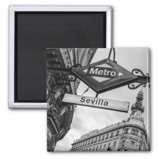 Sevilla Metro Magnet: Madrid Fridge Magnets