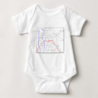 Sevilla Metro Map Baby Bodysuit