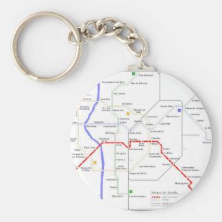 Sevilla Metro Map Keychain