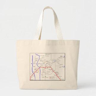 Sevilla Metro Map Large Tote Bag