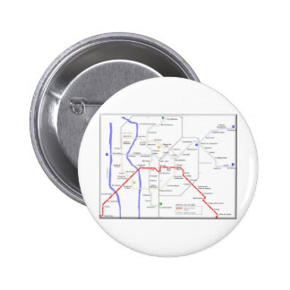 Sevilla Metro Map Pinback Button