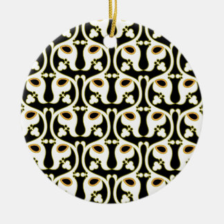 Sevilla Double-Sided Ceramic Round Christmas Ornament