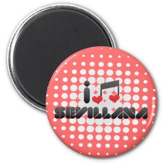 Sevillana fan fridge magnets