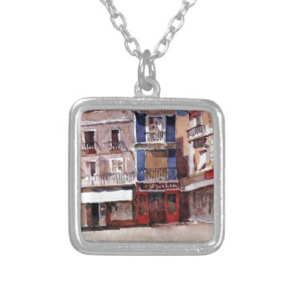 Seville by Vasily Surikov Square Pendant Necklace