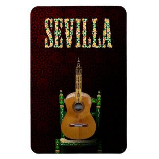 SEVILLE. Flamenco guitar with Giralda of Seville Magnet