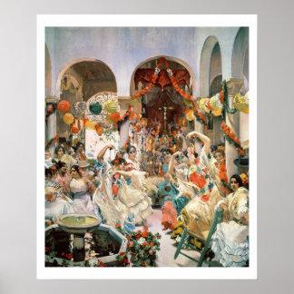 Seville (oil on canvas) poster