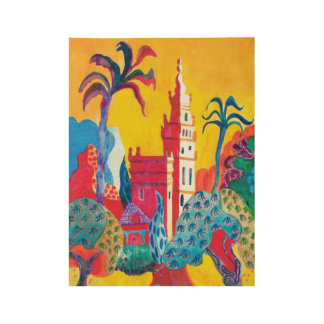 Seville Spain Wood Poster