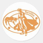 Seville Stamp Classic Round Sticker