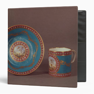 Sevres bleu celeste coffee cup and saucer, c.1780 3 ring binders