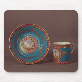Sevres bleu celeste coffee cup and saucer, c.1780 mouse pad