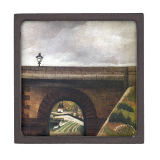 Sevres Bridge by Henri Rousseau Keepsake Box