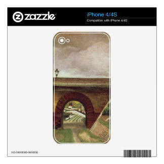 Sevres Bridge (oil on canvas) Decal For iPhone 4