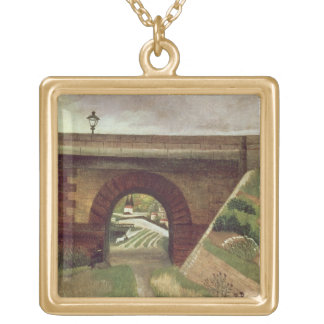 Sevres Bridge (oil on canvas) Gold Plated Necklace