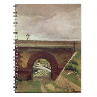 Sevres Bridge (oil on canvas) Notebook