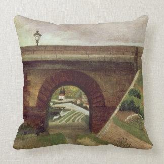 Sevres Bridge (oil on canvas) Pillow