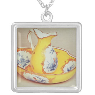 Sevres  Broc Roussel ewer and basin Square Pendant Necklace