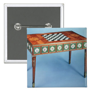 Sevres games table with porcelain plaques 2 inch square button