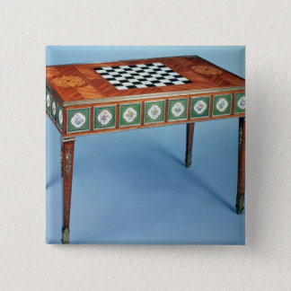 Sevres games table with porcelain plaques pinback button