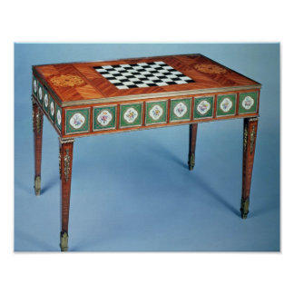 Sevres games table with porcelain plaques poster