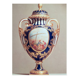 Sevres vase, mid 18th century postcard