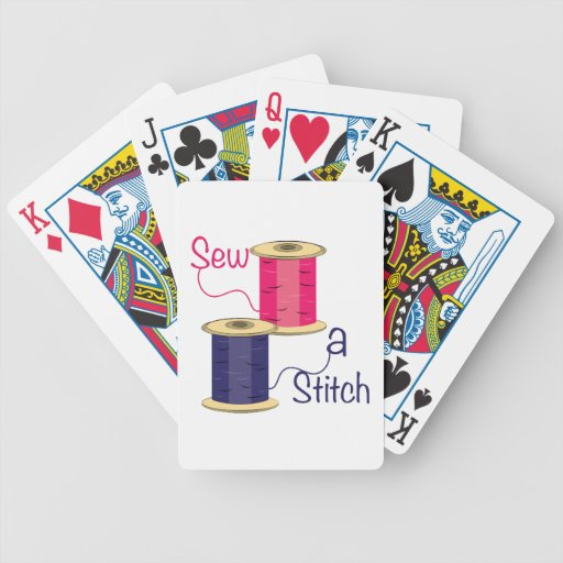 Sew A Stitch Bicycle Playing Cards