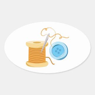 Sew Button Oval Sticker