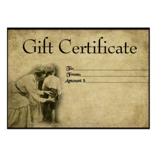 """""""Sew By Seat Of Pants""""- Prim Gift Certificate Card Business Card Template"""
