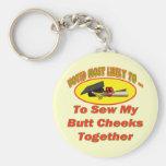 Sew Cheeks Together Keychain