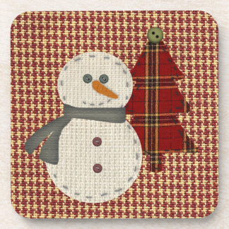 Sew Christmas Cork Coaster