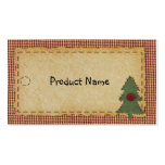 Sew Christmas Tree Hang Tag Double-Sided Standard Business Cards (Pack Of 100)