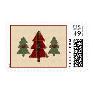 Sew Christmas Tree Postage