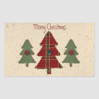 Sew Christmas Tree Sticker