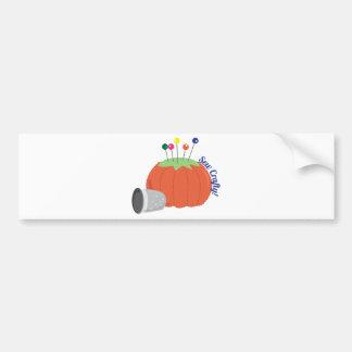 Sew Crafty Car Bumper Sticker