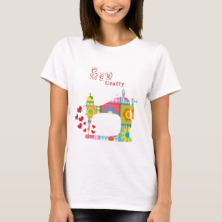 Sew Crafty Quilt T-shirt by Mini Brothers