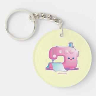 Sew Cute Single-Sided Round Acrylic Keychain