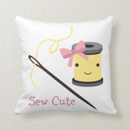 Cute Pillow Sewing : Sew Cute Throw Pillow Zazzle