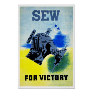 Sew for Victory Poster