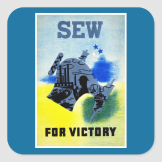 Sew for Victory Square Sticker