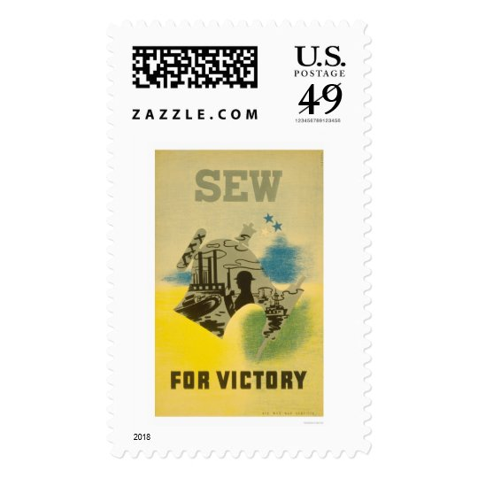 Sew For Victory WWII 1941 WPA Postage