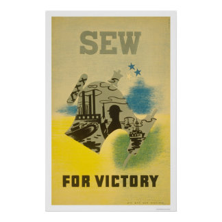 Sew For Victory WWII 1941 WPA Poster