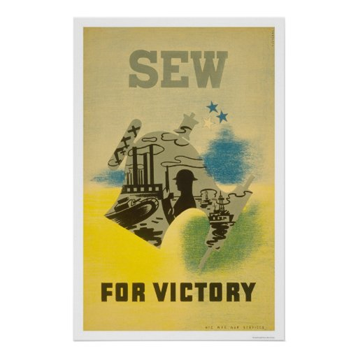 Sew For Victory WWII 1941 WPA Posters