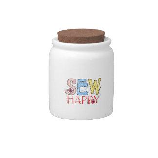 SEW HAPPY CANDY JAR