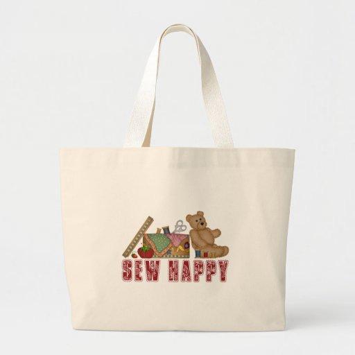 Sew Happy Canvas Bags