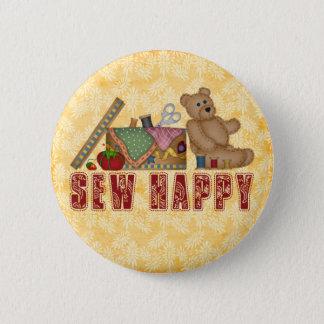 Sew Happy Pinback Button